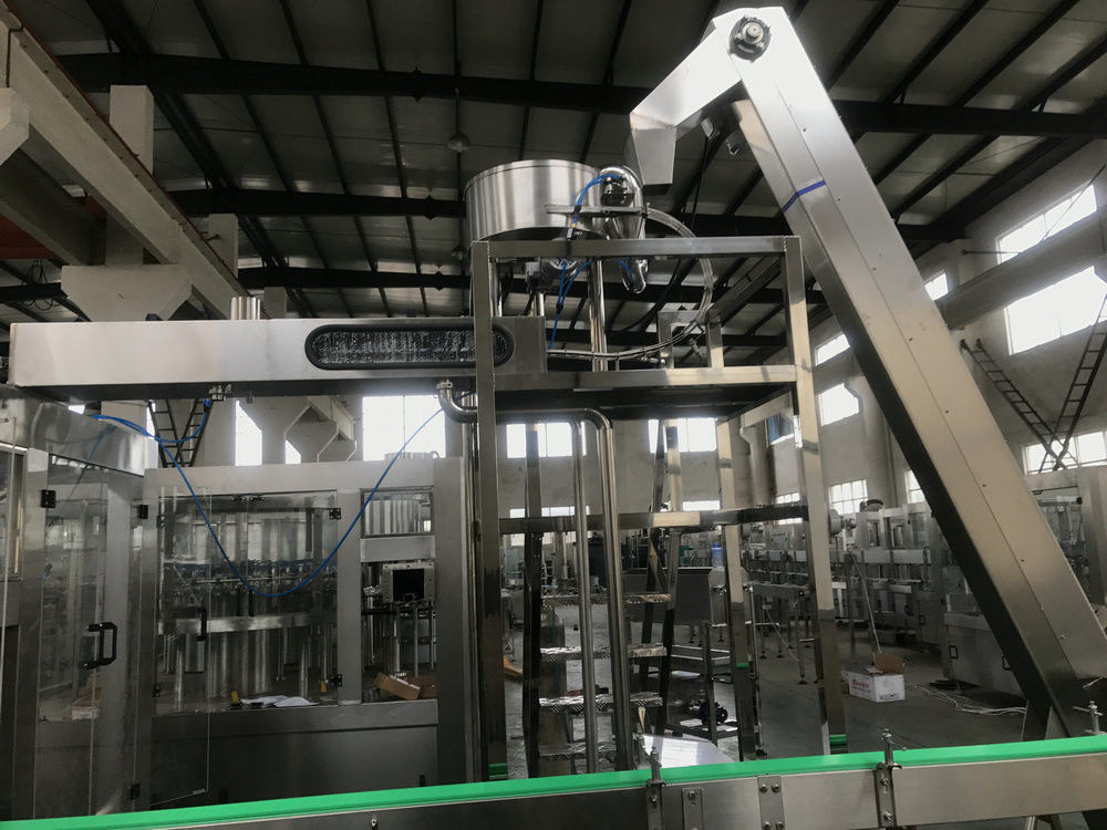 Compressed Automatic Bottle Washing Filling And Capping Machine 0.5~0.6Mpa